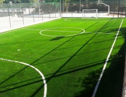 Artificial grass for mini soccer pitch in a luxury hotel in Vouliagmeni, Athens
