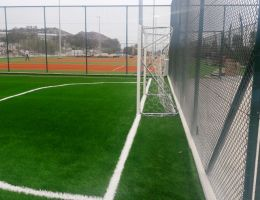 Artificial grass for tennis courts and mini soccer pitch in a luxury hotel in Kos Island