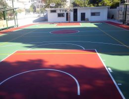 Court Renovation of Typhoon B.C., Neo Heraklio, Athens