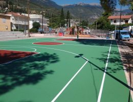 Basketball court in Amfissa, Greece