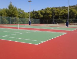 Renovation of four tennis courts in a Private College in Aghia Paraskevi/Athens
