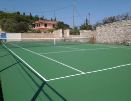 Syvota, Thesprotia: Private tennis court (Ergosoft)