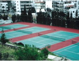 Cushion system in Petroupoli Tennis Club, Athens
