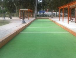 Bocce court in Paleo Faliro, Athens, Greece
