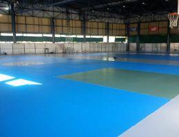 Ασουνσιόν, Παραγουάη: Δάπεδο κλειστού γυμναστηρίου στο Κλαμπ Σεντενάριο