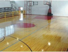 Wooden sports floor in Zante Island