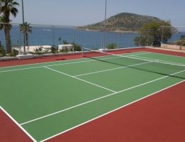 Anavyssos, Attica: Private tennis court (Ergocushion)