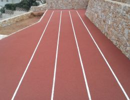 Mini run-up track (pu sandwich system) in a private residence in Schinias / Attica